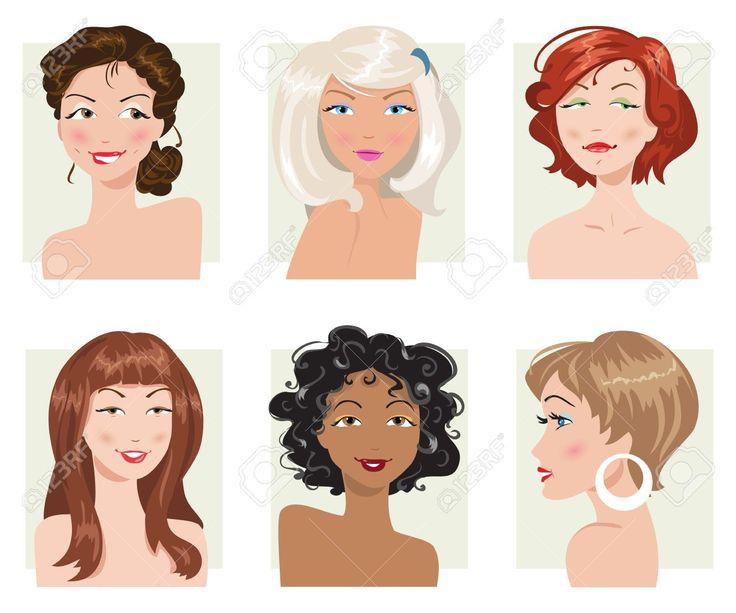 Картинки по запросу блондинка брюнетка рыжая клипарт