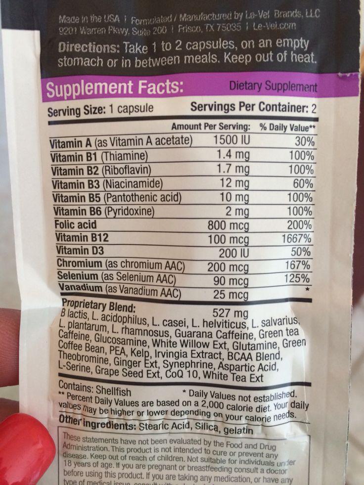 Women's thrive capsule ingredients | Thrive | Pinterest ...