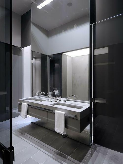 mirror, sink & tap