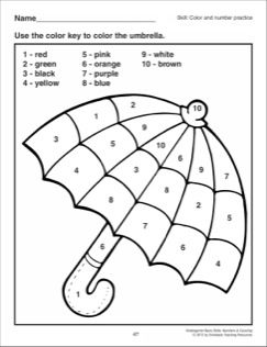 Color and Number Practice: Kindergarten Basic Skills