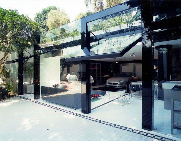 Striking Transparency Showcased By A Modern Live-In Garage: Idea, Livein Garage, Architecture Interiors, Modern Livein, Interiors Design, Dream Garage, Glasses Garage, Brunet Fraccaroli, Architecture Design