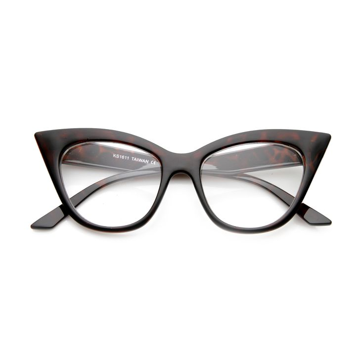 Women's Retro 1950's Clear Lens Cat Eye Glasses 9781