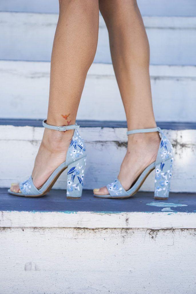 summer heels, shoes under $100, embroidered heels, francesca's, #franlove, summer style