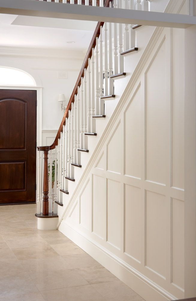 Pin Bethany Byrne Decor Inspiration Wainscoting Stairs Stair Paneling Styles