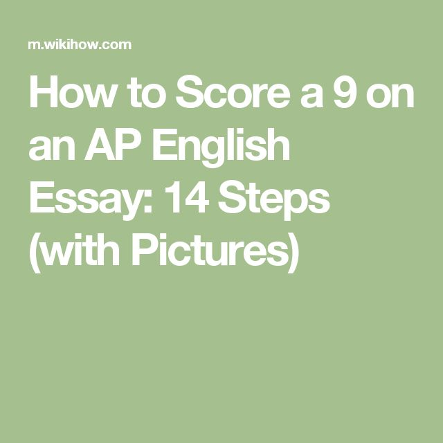 High School Personal Statement Sample Essays How To Score A  On An Ap English Essay  Steps With Pictures Example Of An English Essay also Essay About Healthy Food Best  Ap English Ideas On Pinterest  English Literature  First Day Of High School Essay