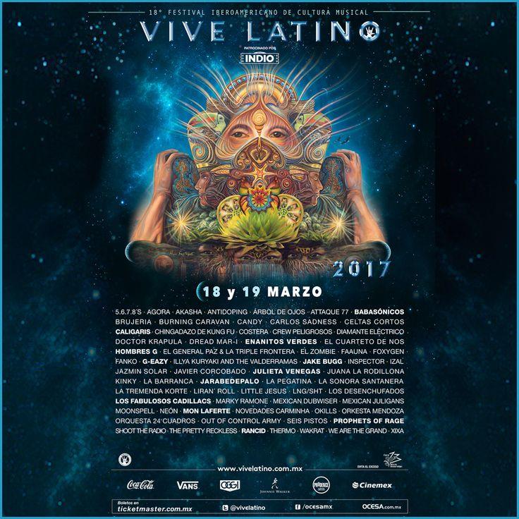 #Festival // Este es el cartel oficial del Vive Latino 2017