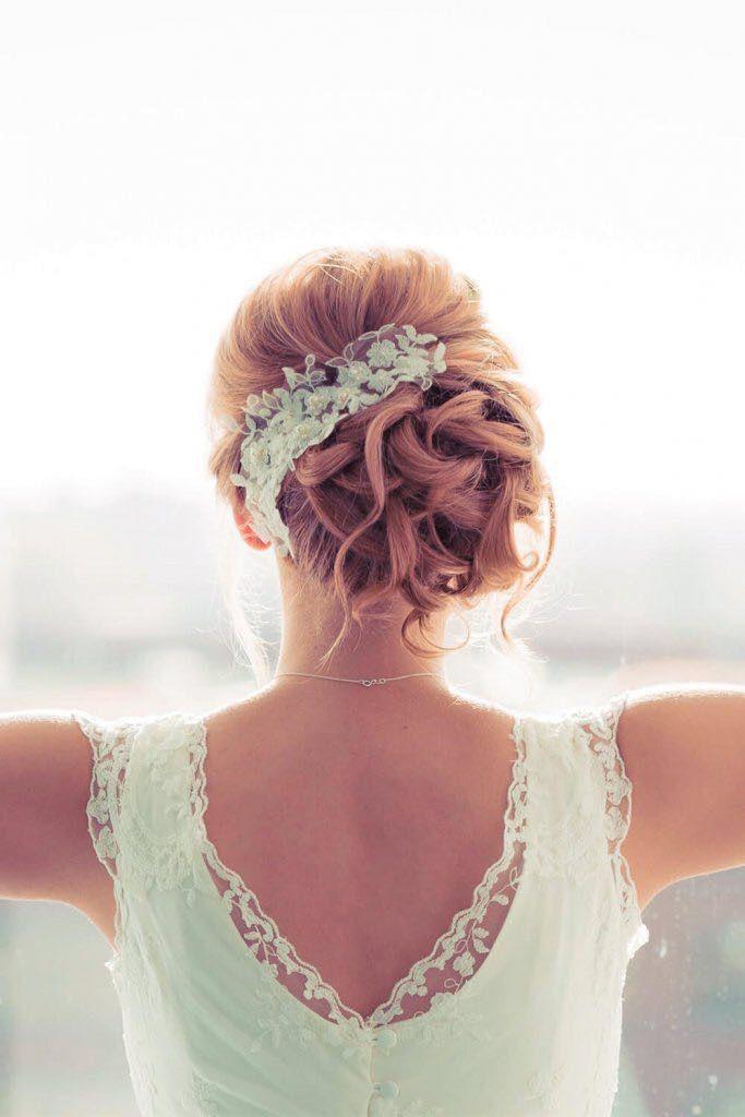 Spitze Hochsteckfrisur Brautfrisur Hochzeitsstyling Blond Hair