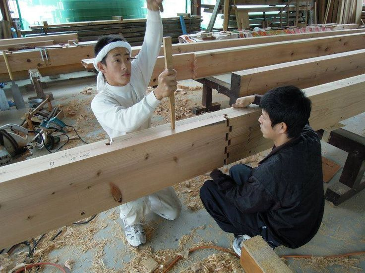 Despite Japan's modern image as a country obsessed with the latest technologic advances and all things robotic, age-old Japanese methods and traditions are still highly valued, such as carpenters who use traditional joint-making techniques to fasten together pieces of wood without nails or screws. A video demonstra ...