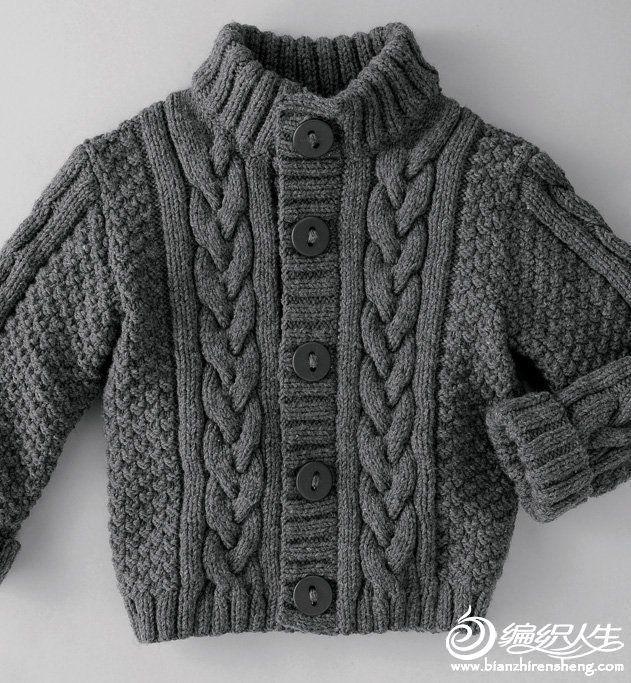 """15例儿童款美衣编织图片欣赏_儿童毛衣_编织人生手工编织网                                                                                                                             Más [   """"Zoom in (real dimensions: 631 x"""",   """" so warm with the wool weight and the high neck!"""" ] #<br/> # #Cardigan,<br/> # #Knitting #Designs,<br/> # #Knitting #Patterns,<br/> # #Too #Cute,<br/> # #Lace #Design,<br/> # #Baby #Knits,<br/> # #Layette,<br/> # #Vests,<br/> # #High #Neck<br/>"""