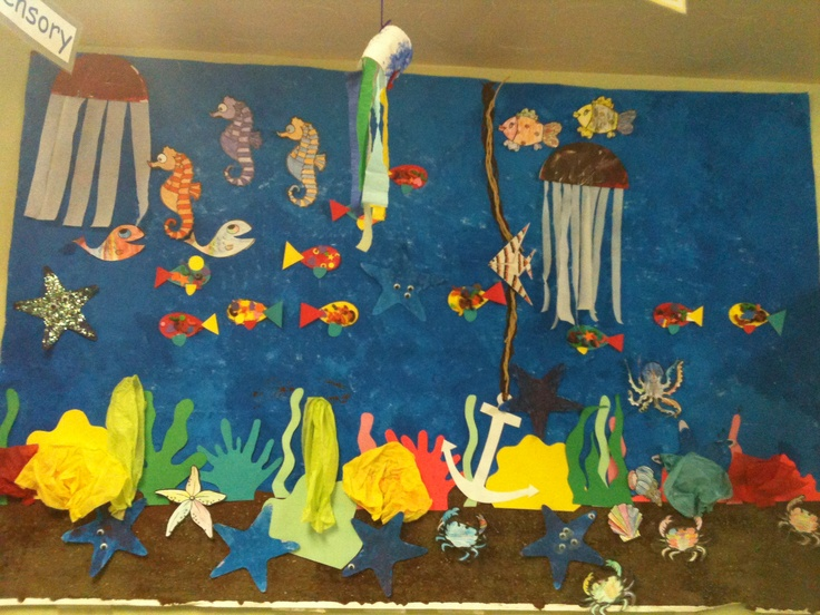 O is for Ocean and our mural is quite outstanding and kid-made!