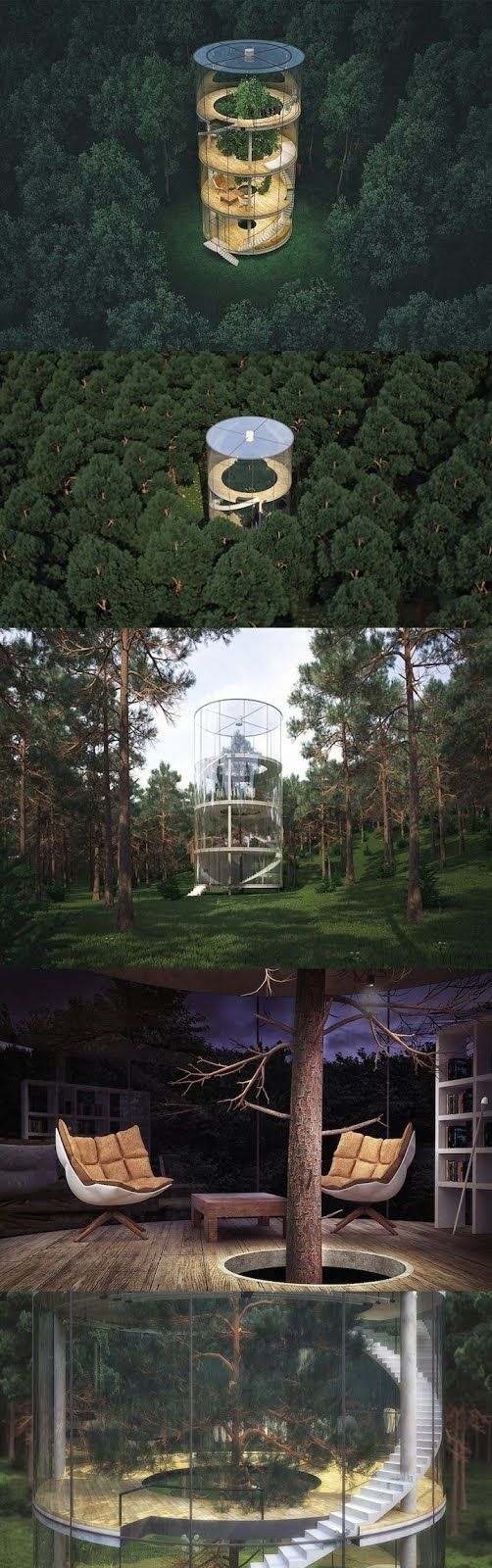 Located in a forest on the mountains of Almaty in Kazakhstan, architect Aibek Almasov of A.Masow Design Studio has designed a concept for a modern spiritua