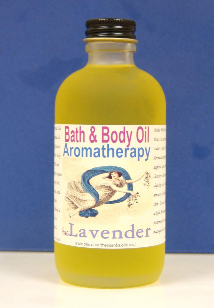 LAVENDER  Aromatherapy Bath & Body Oil     2oz by planetearthoils, $20.00