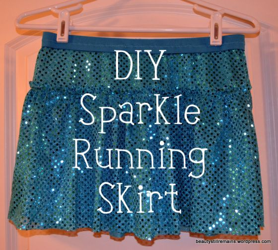 sparkle running skirt tutorial