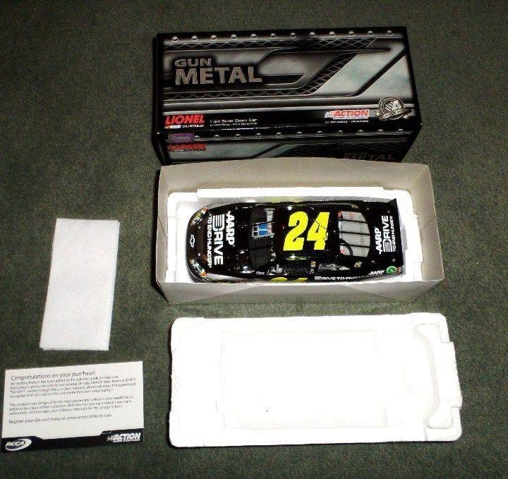 Jeff Gordon #24 2012 IMPALA AARP/DTEH Gunmetal 1:24 Diecast 1 Of 286 Made, NEW   #LionelNascarCollectibles #Chevrolet