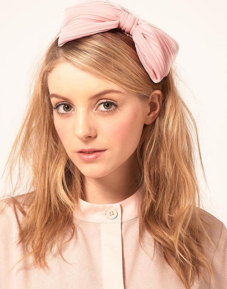 Johnny Loves Rosie Pleated Bow AlicebandHair Colors, Pleated Hairband, Rosie Pleated, Pleated Bows, Pink Bows, Hair Makeup, Rosie Alicebands, Aw13 Hair, Bows Alicebands
