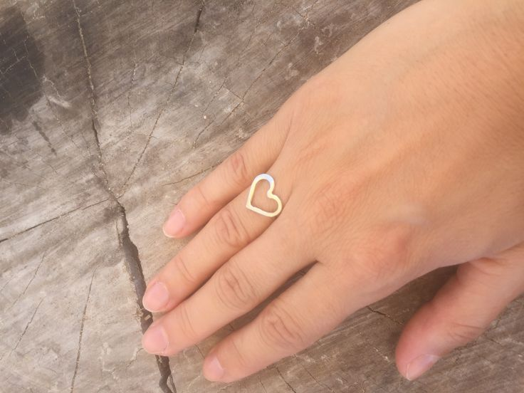 Heart ring made from 925 sterling silver  See more here https://m.facebook.com/Dulicious-Handmade-Jewelry-1269101023212373/