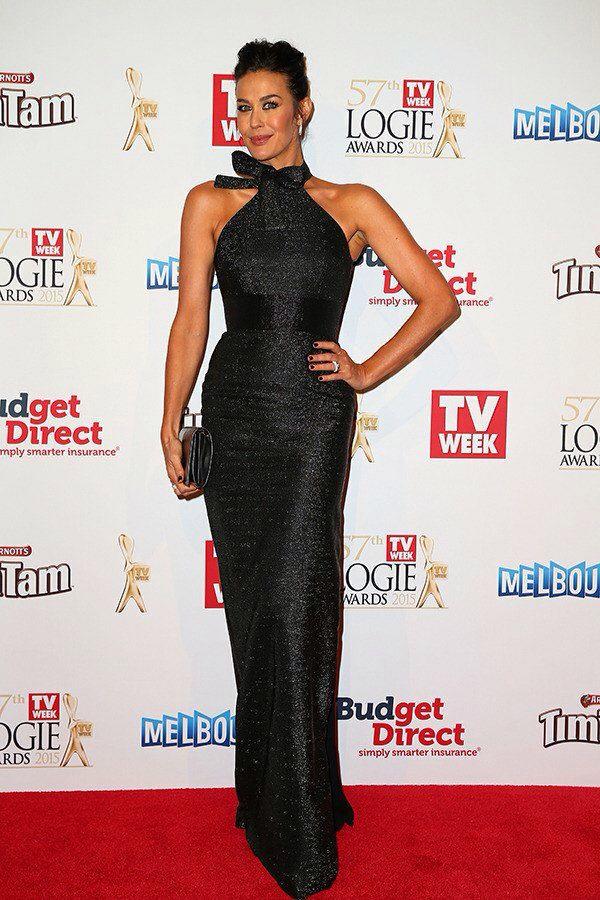 Megan Gale at the 2015 Logie awards