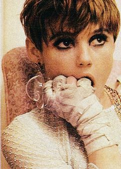 "Edie Sedgwick  ""I went to a party once, and there was a palm reader there and when she looked at my hand, she just froze. And I said to her ""I know. My lifeline is broken. I know I won't live past thirty."" --Factory Girl"