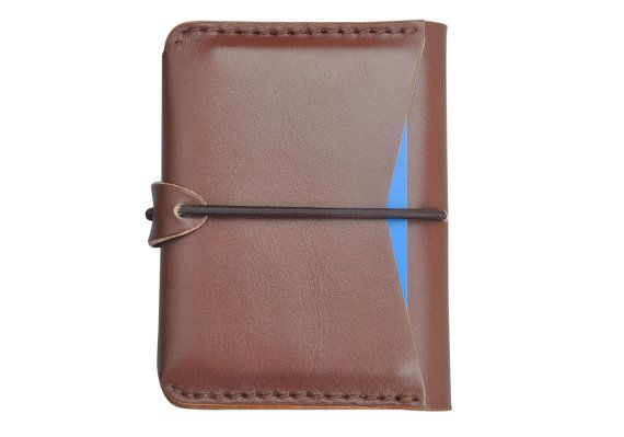Handcrafted genuine leather card holder wallet  money by Onequeen