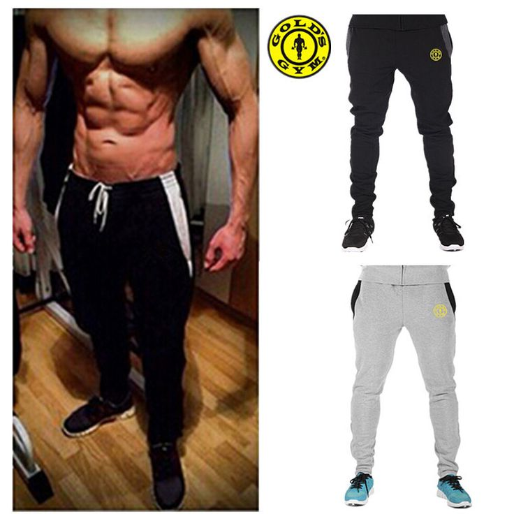 Golds Gym Pants Mens Tracksuit Sports Bottoms Cotton Fitness Skinny Joggers Sweat Pants Pantalones Chandal Hombre