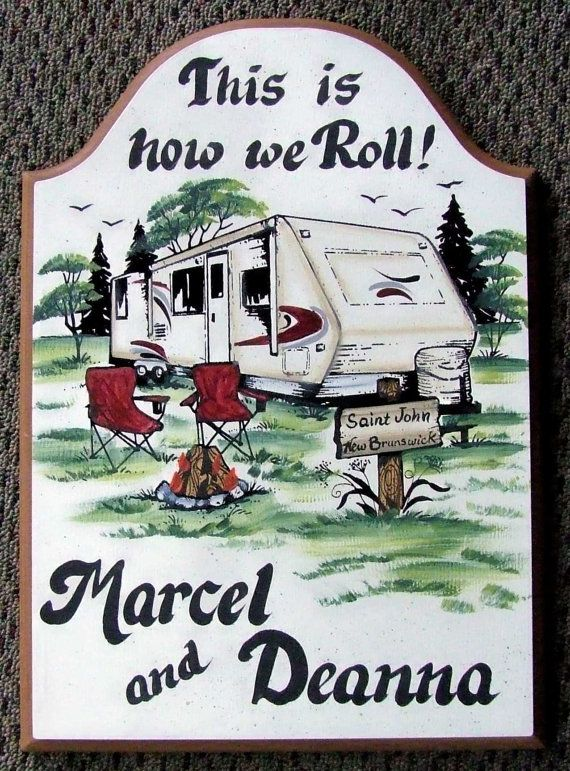 Travel Trailer RV Camper PERSONALIZED by WhisperwoodStudio