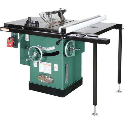 "10"" 3 HP 240V Cabinet Left-Tilting Table Saw 