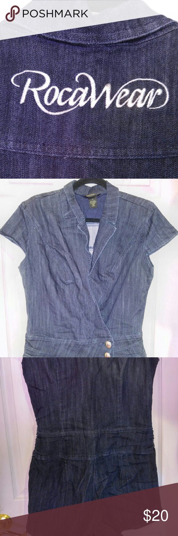 Roca wear jean jumpsuit Gently used Rocawear jeans jumpsuit size extra large. Message me for more details discount or bundles. Thank you for looking Rocawear Dresses