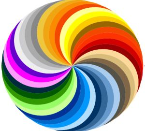 rainbow circle: Colors Pinwheels, Shui Colors, Pure Colors