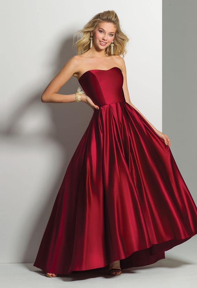 Strapless Satin High Low Dressfrom Camille La Vie and Group USA 6a67f1235