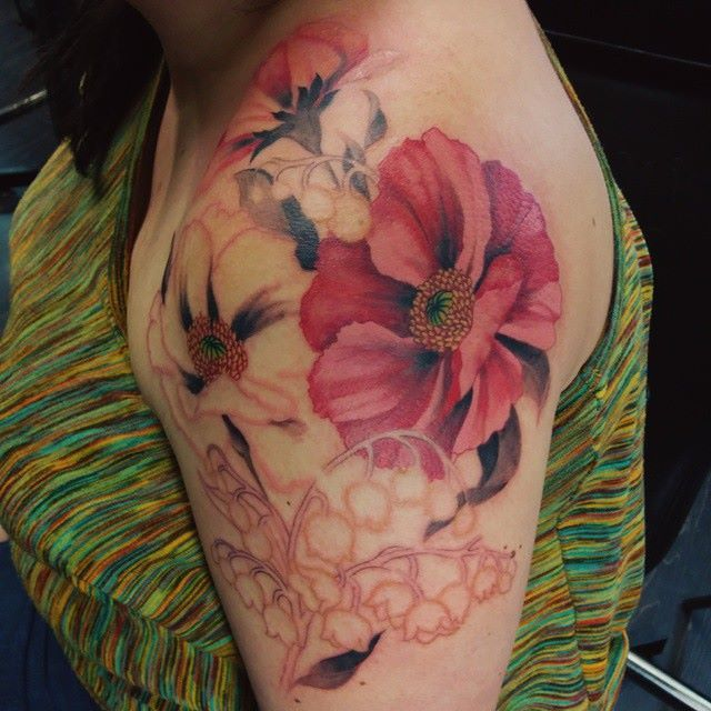 Toronto Tattoo Poppies And Lily Of