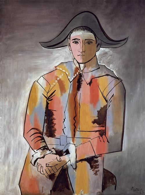 Pablo Picasso, Harlequin, les mains croisées , 1923, oil on canvas, 129 x 96 cm, Ludwig Donation 1994: found at museum ludwig