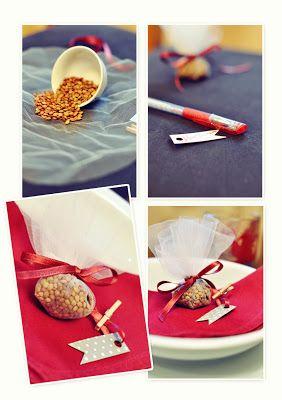 dining table decoration- placeholder -decorazione tavola Capodanno segnaposto con lenticchie