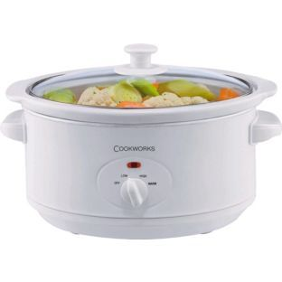 Buy Cookworks 3.5 Litre Slow Cooker - White at Argos.co.uk - Your Online Shop for Slow cookers.