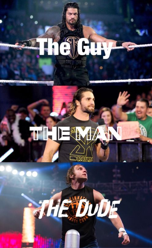 The Shield - Dean Ambrose, Seth Rollins and Roman Reigns.  #theshield #wwe #finelookingmen