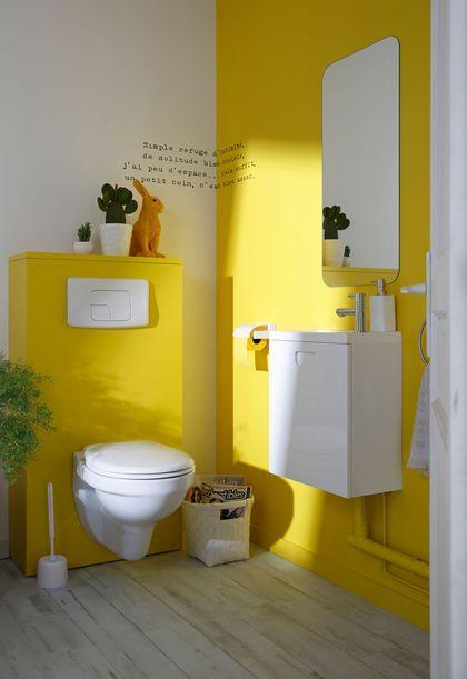 Osez le jaune pour la déco des toilettes