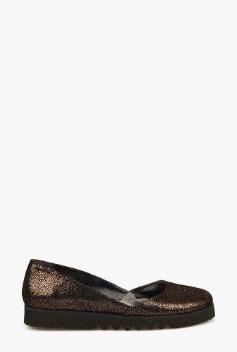 Pantofi cu glitter din piele naturala B183NGLAMOUR -  Ama Fashion