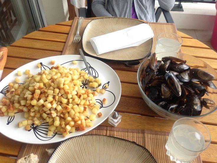 Moules frites sur terrasse ! ;)