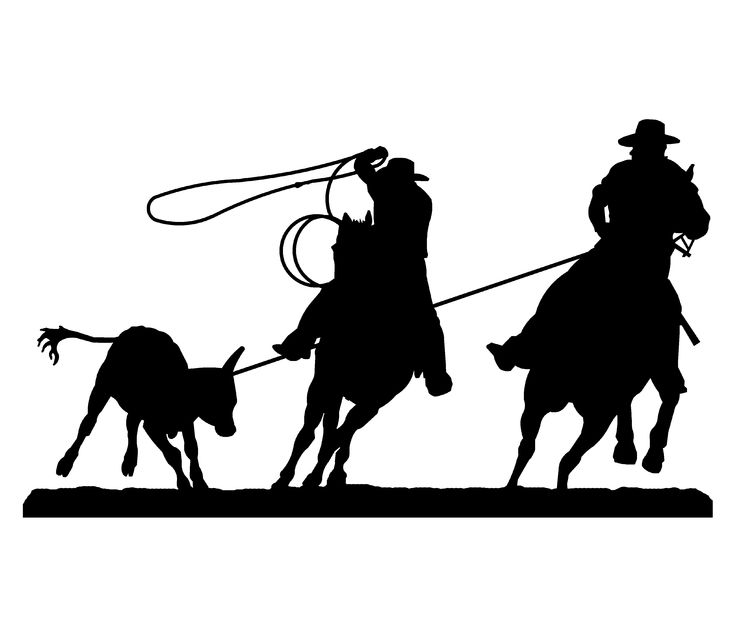 Team Roping Silhouette Embroidery Designs Silhouette