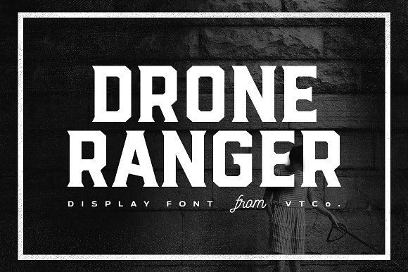 Drone Ranger Display Font by Vintage Type Co. on @creativemarket