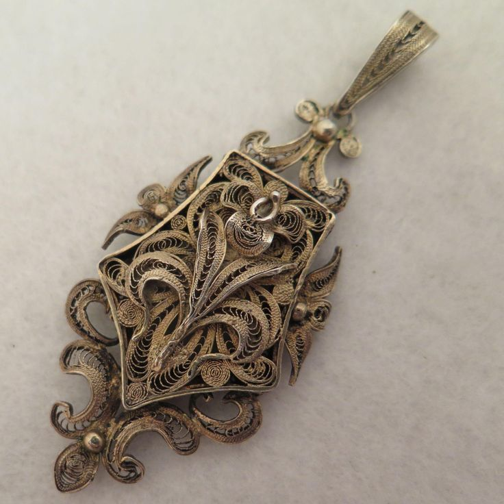 941 best antique vintage jewelry in my shop images on pinterest antique gilded sterling filigree locket pendant aloadofball Choice Image