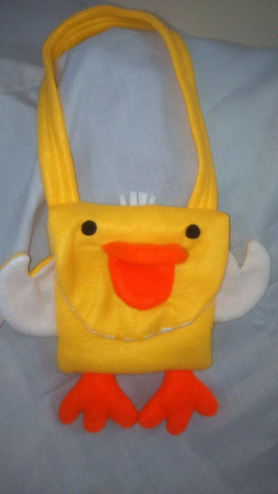 Duck Fleece Animal Bag by SewingSunbeams on Etsy