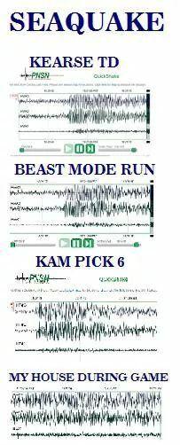 SeaQuake!! GO HAWKS!!! #SuperBowlRePete