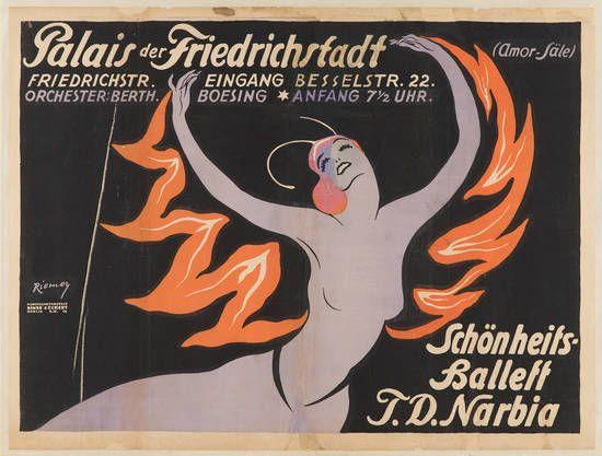 Palais der Friedrichstadt. Schönheitsballett T.D. Narbia,  Variete Zirkus Kabarett, Berlin, um 1920