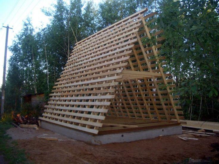 Дом-шалаш для дачного участка