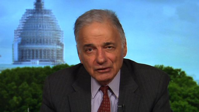 """As independent Senator Bernie Sanders of Vermont announces his bid for the Democratic presidential nomination, we continue our conversation with former presidential candidate Ralph Nader, author of the new book, """"Return to Sender: Unanswered Letters to the President, 2001-2015."""""""