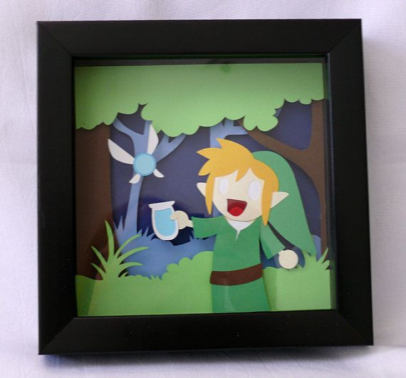 Link and Navi Shadowbox by hatpire on Etsy