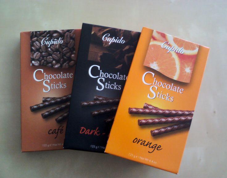 Çubuk kırakerimsi çikolata çubuklar   Gupido Kahveli, Bitterli ve Portakal-Sütlü Çikolata Çubuklar  http://www.cikolatalimani.com/Gupido,LA_136-3.html#labels=136-3