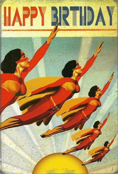 bikini kaart happy birthday supergirls