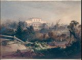 Rosebank, Woolloomooloo, the residence of James Laidley, 1840 / watercolour by Conrad Martens.View of north face of villa painted for then owner Robert Campbell (III). House was originally built for Deputy Commissary-General James Laidley (1786-1835) in 1831. The building was demolished in the early 1920's.http://www.acmssearch.sl.nsw.gov.au/search/itemDetailPaged.cgi?itemID=421323 From the collection of the State Library of New South Wales http://www.sl.nsw.gov.au