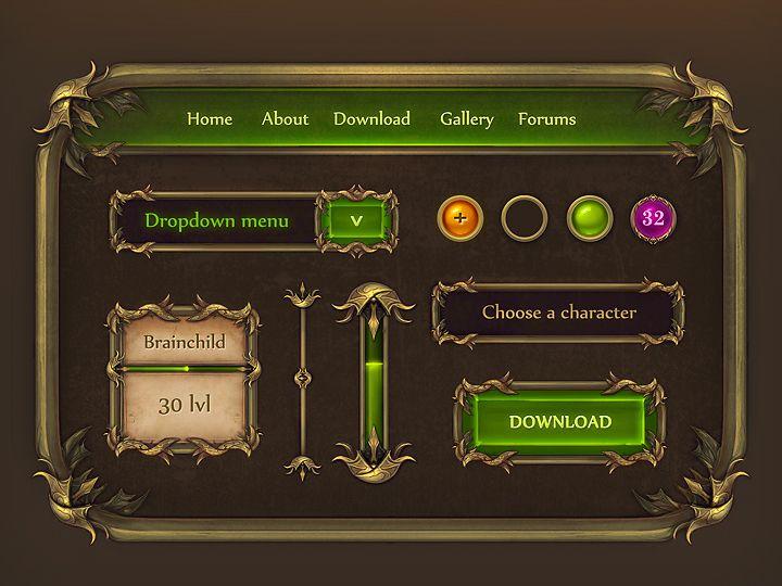 mobile RPG UI - Google 검색